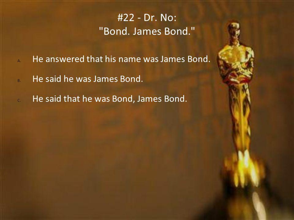 #22 - Dr. No: