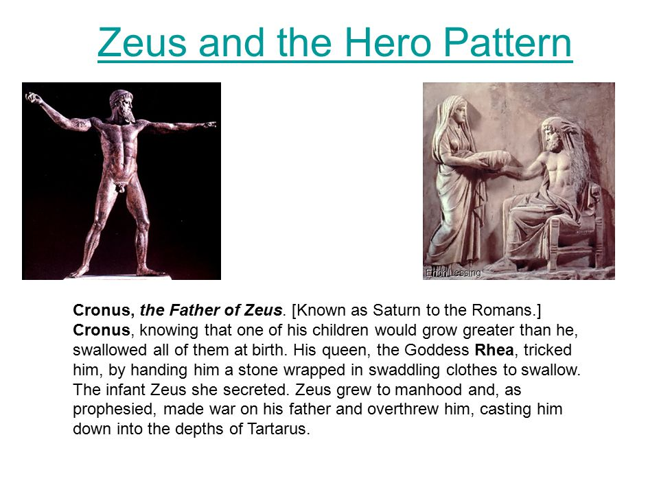 Zeus and the Hero Pattern Cronus, the Father of Zeus.