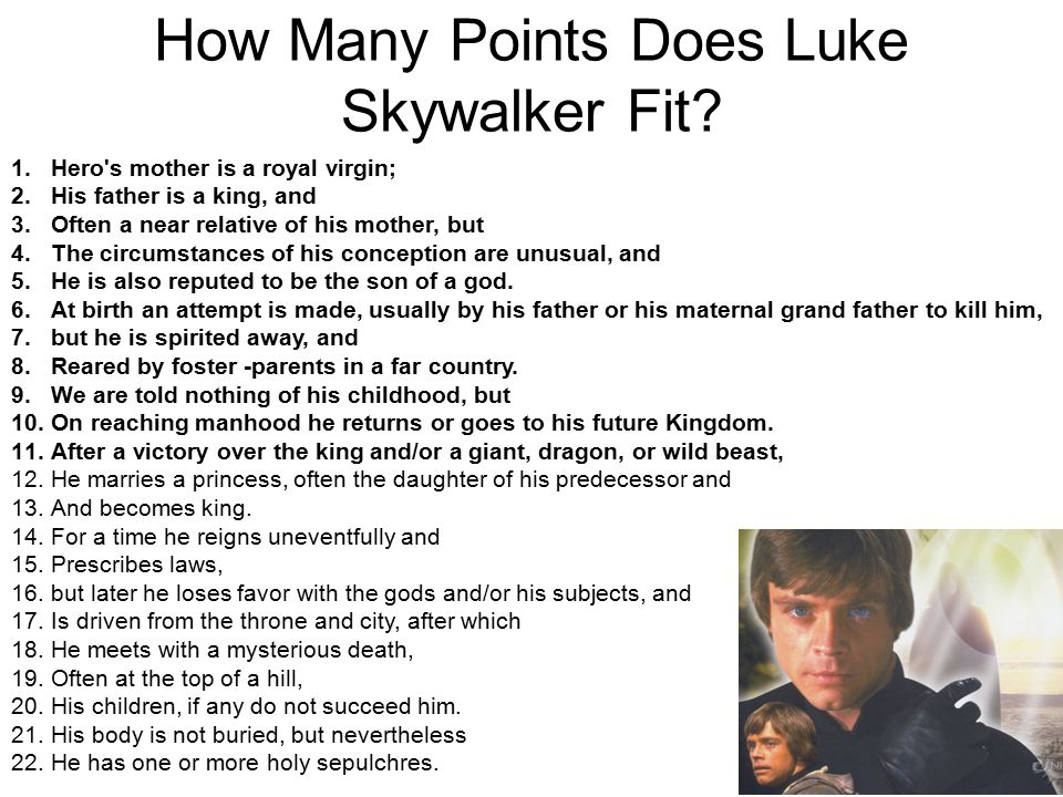 How Many Points Does Luke Skywalker Fit.