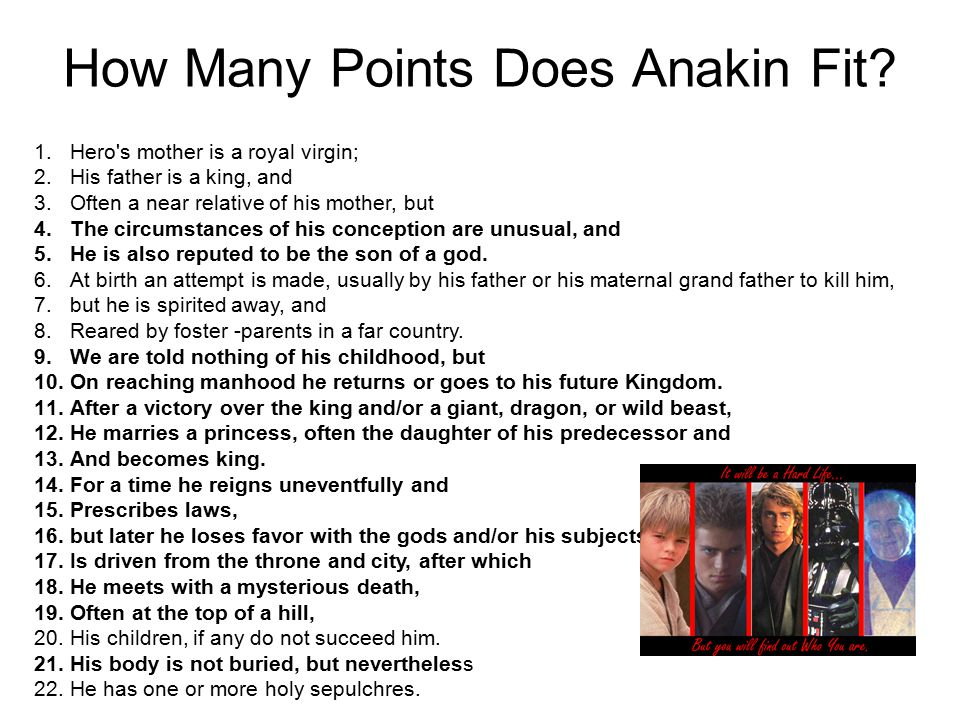 How Many Points Does Anakin Fit.