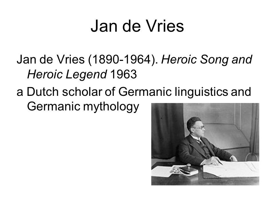 Jan de Vries Jan de Vries (1890-1964).