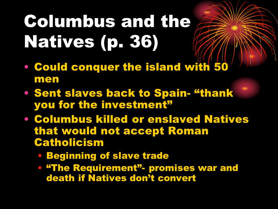 Columbus and the Natives (p.