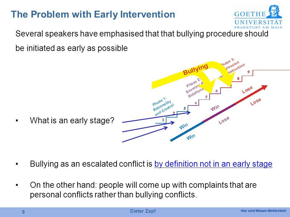 Hier wird Wissen Wirklichkeit 10 Conflict Behaviour of Bullying Victims Qualitative Study From Zapf & Gross (2001).