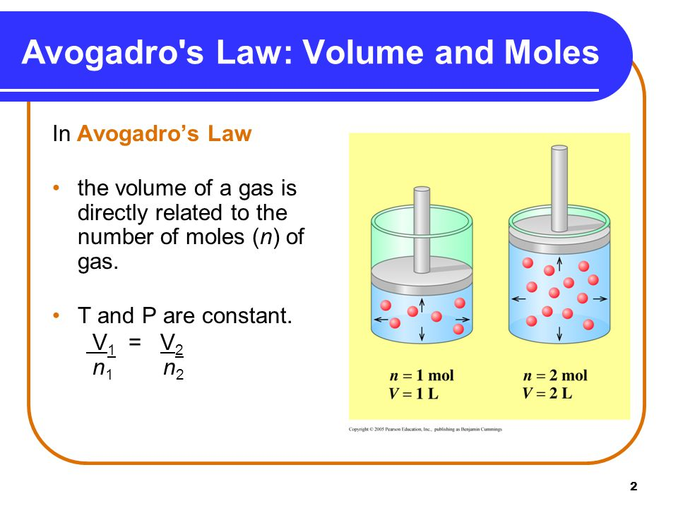 3 Learning Check If 0.75 mole helium gas occupies a volume of 1.5 L, what volume will 1.2 moles helium occupy at the same temperature and pressure.