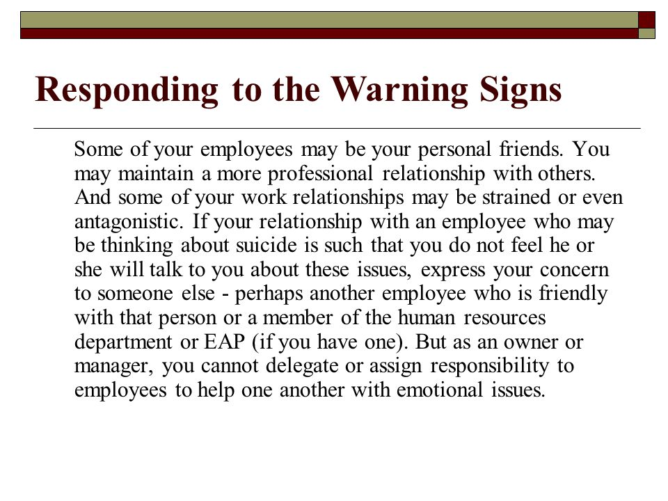 Some of your employees may be your personal friends.