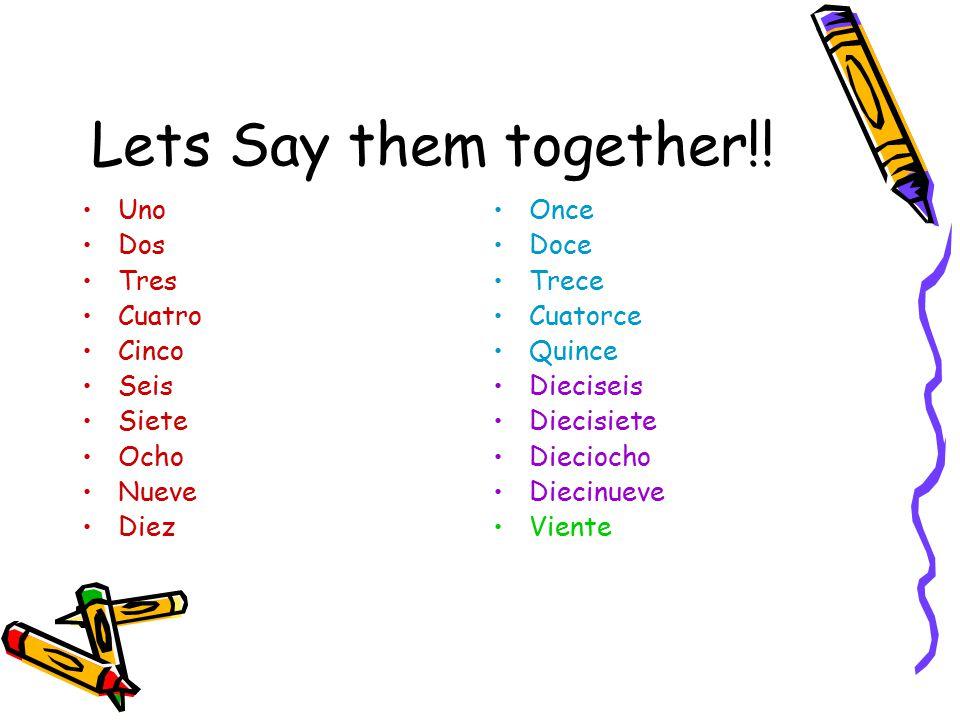 Lets Say them together!.