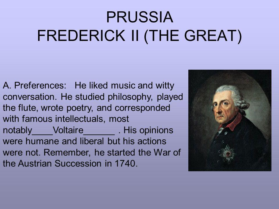 PRUSSIA FREDERICK II (THE GREAT) B.