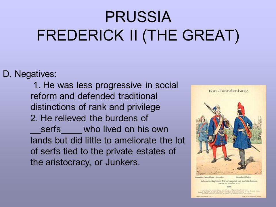 PRUSSIA FREDERICK II (THE GREAT) E.