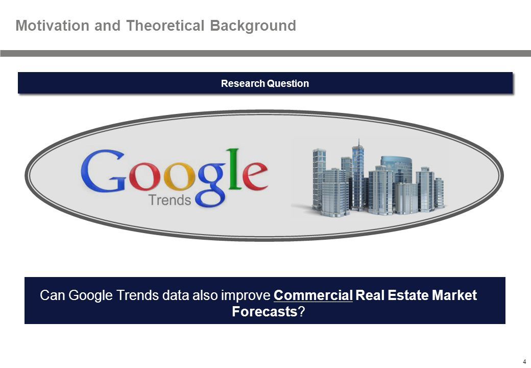 4 Textmasterformate durch Klicken bearbeiten Motivation and Theoretical Background Can Google Trends data also improve Commercial Real Estate Market Forecasts.