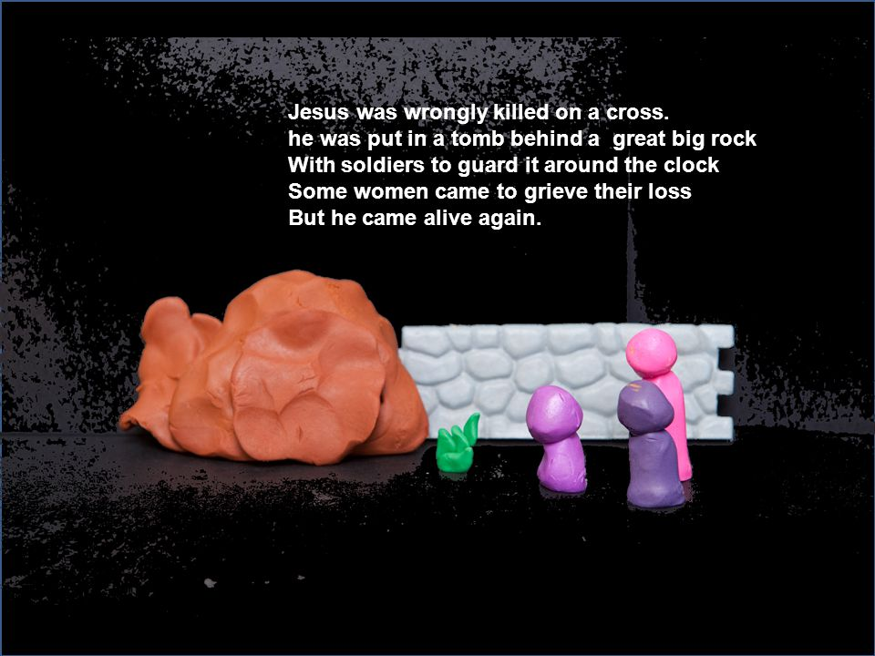 Jesus was wrongly killed on a cross.