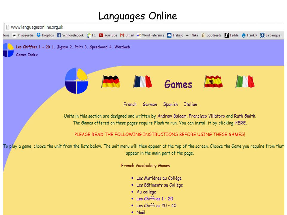 You will find a bank of sample ICT activities which you can use to practice the vocabulary in the classroom.