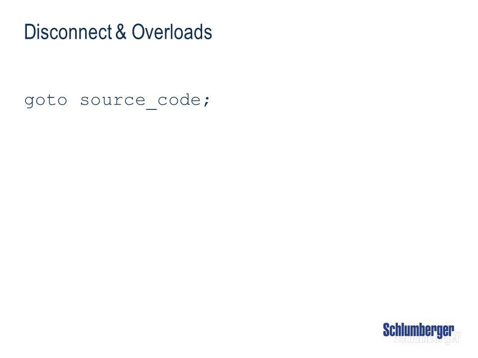 Disconnect & Overloads goto source_code;