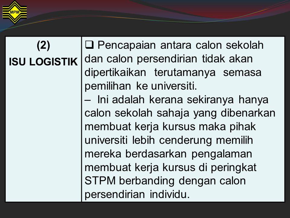 Semua calon WAJIB mengambil Kertas 4 (946/4). Rasionalnya adalah seperti yang berikut: (1) MATLAMAT  Salah satu syarat untuk lulus dalam matapelajara