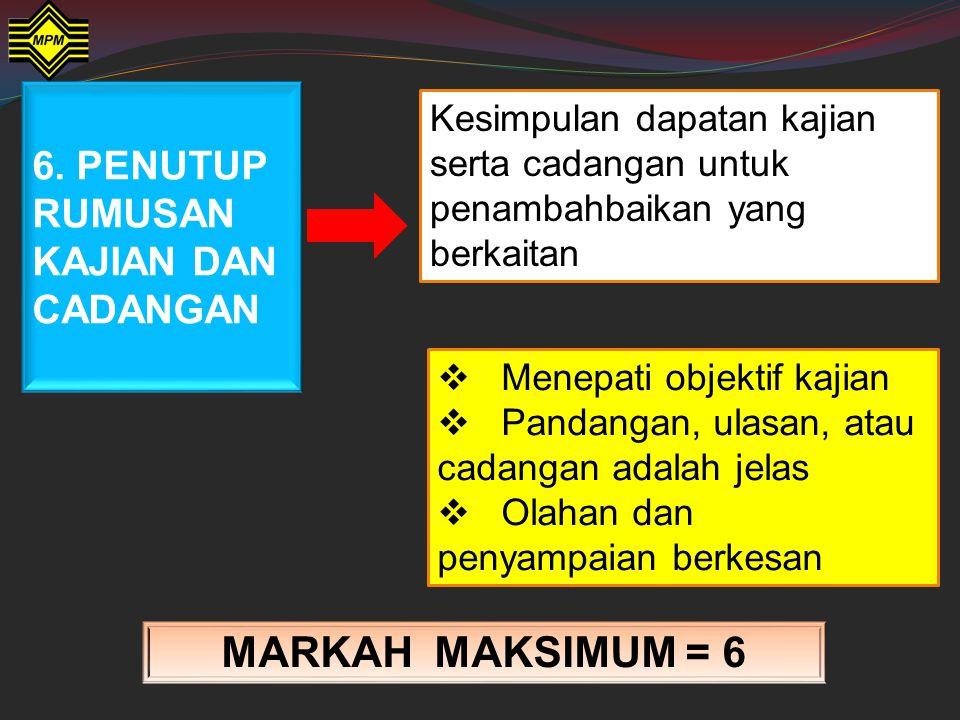 5. Dapatan Kajian & Perbincangan MARKAH MAKSIMUM = 10 Gaya dan bahasa  Gaya bahasa yang menepati laras yang betul, tatabahasa yang sesuai, tiada kesa