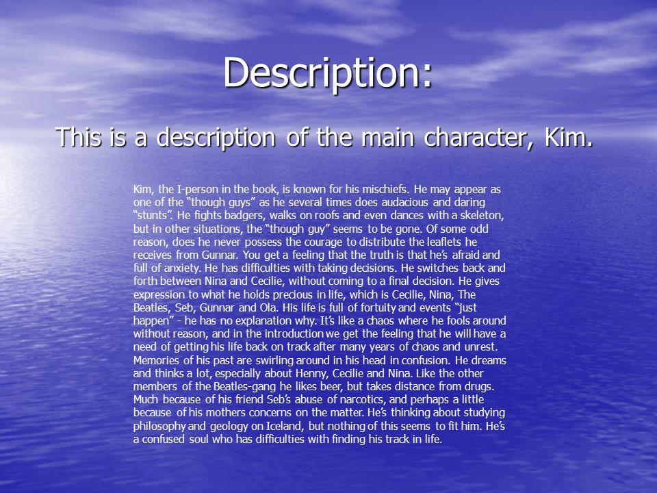 Description: This is a description of the main character, Kim.