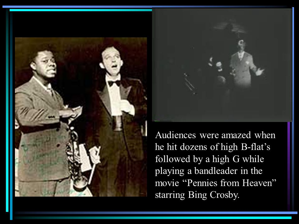 Despite racial barriers, Louis became more and more famous as he continued to record, and began to work in film as well. Audiences were amazed when he