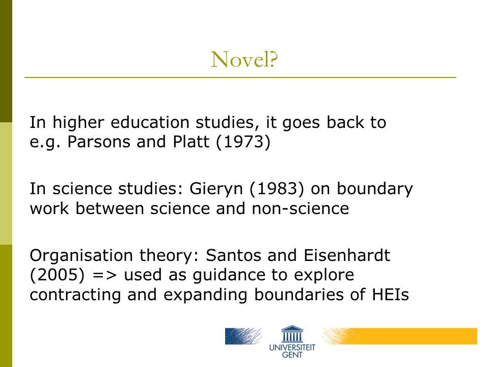 Novel. In higher education studies, it goes back to e.g.