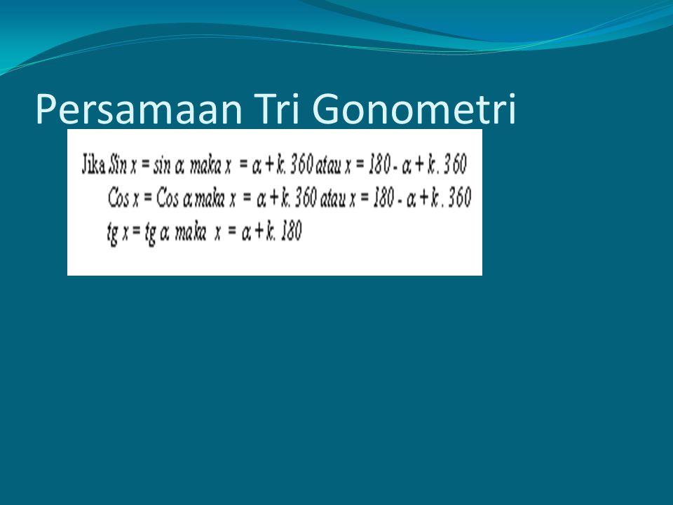 Persamaan Tri Gonometri