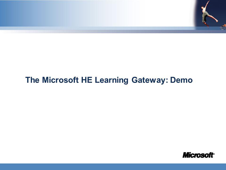 The Microsoft HE Learning Gateway: Demo