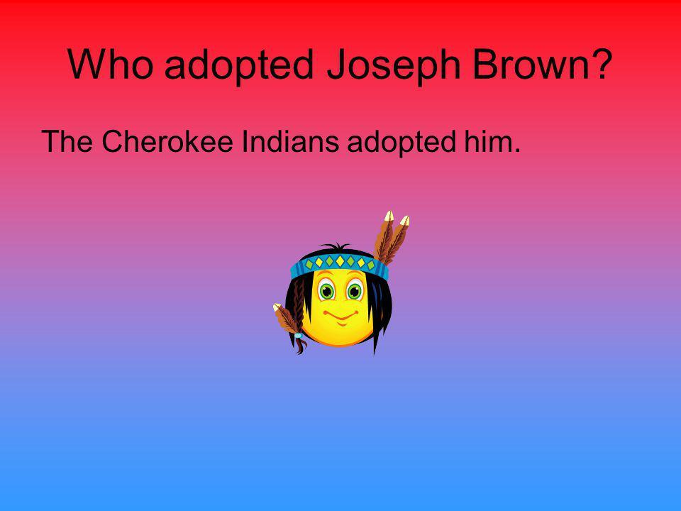 Who did Joseph marry? Joseph Brown married Sally Thomas.