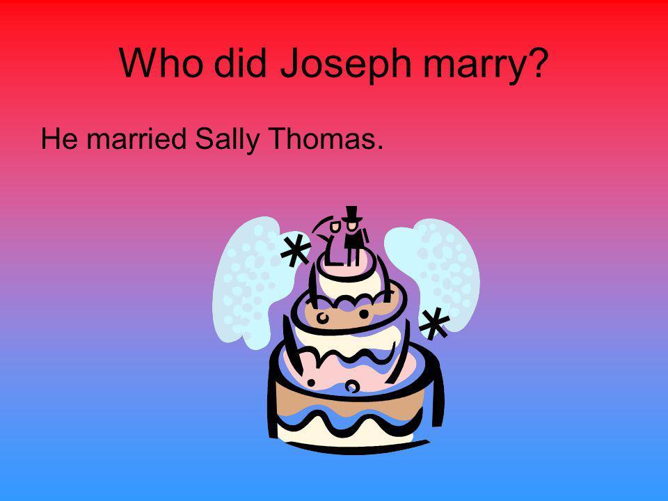 When and where was Joseph Brown born? He was born in 1772 Surry County, North Carolina.
