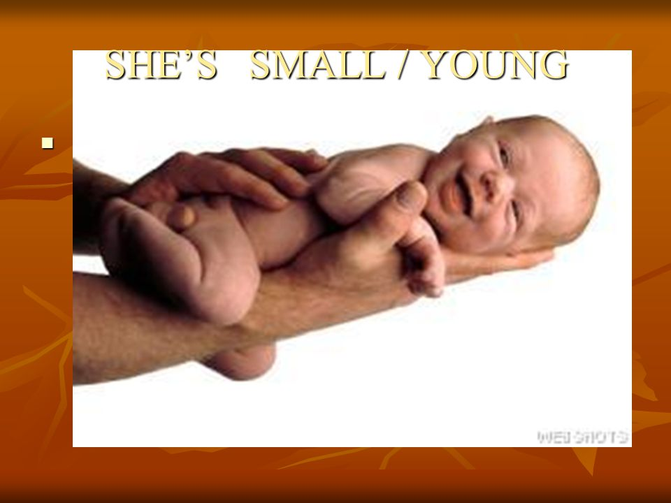 SHE'S SMALL / YOUNG