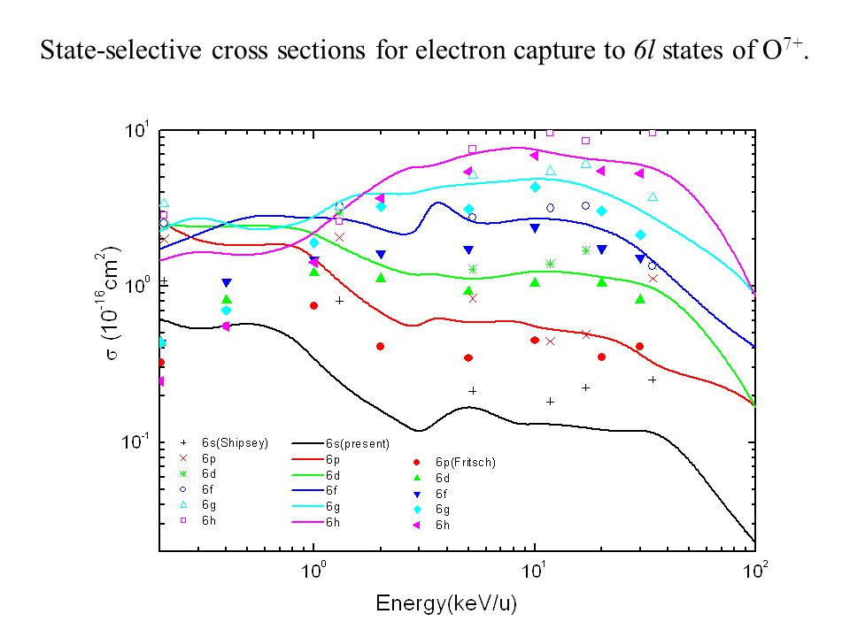 State-selective cross sections for electron capture to 6l states of O 7+.