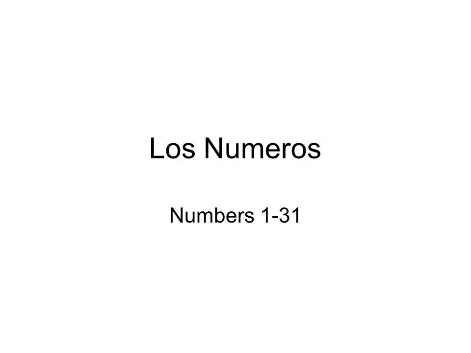 Los Numeros Numbers 1-31