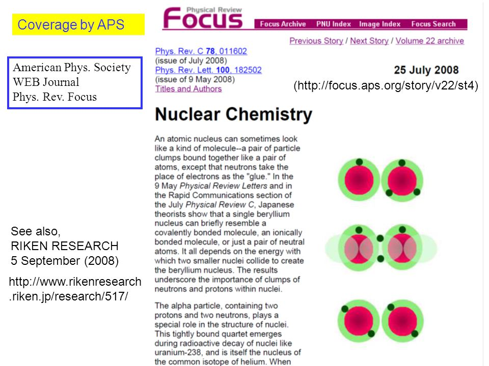 Coverage by APS American Phys.Society WEB Journal Phys.