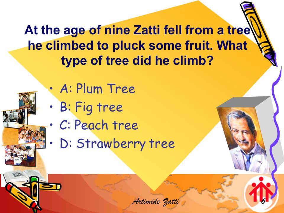 Artimide Zatti17 Which year did he die? A:1943 B: 1948 C:1954 D:1951
