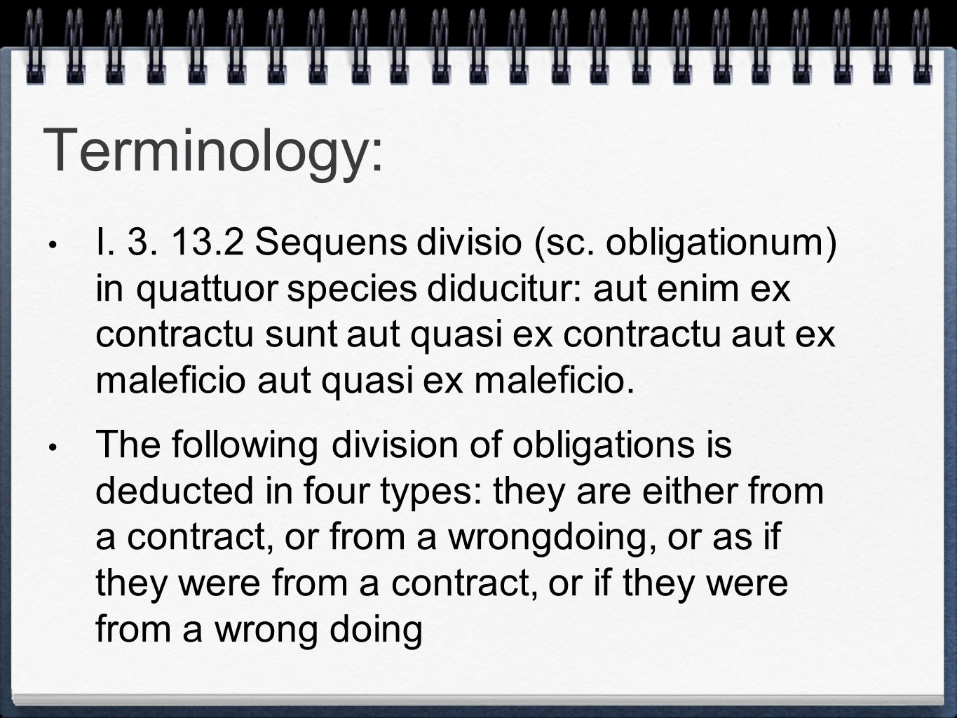 Terminology: I. 3. 13.2 Sequens divisio (sc.