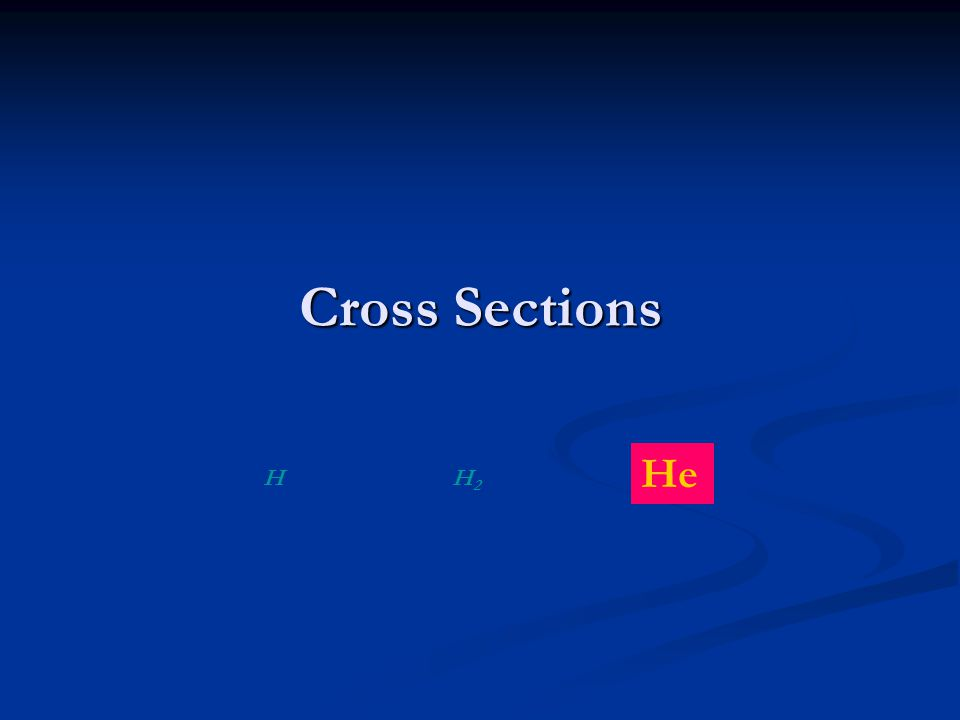 Cross Sections HH2H2 He