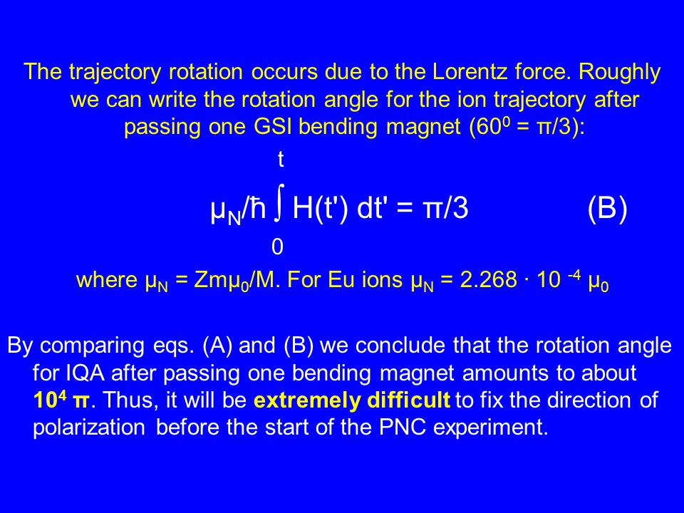 The trajectory rotation occurs due to the Lorentz force.