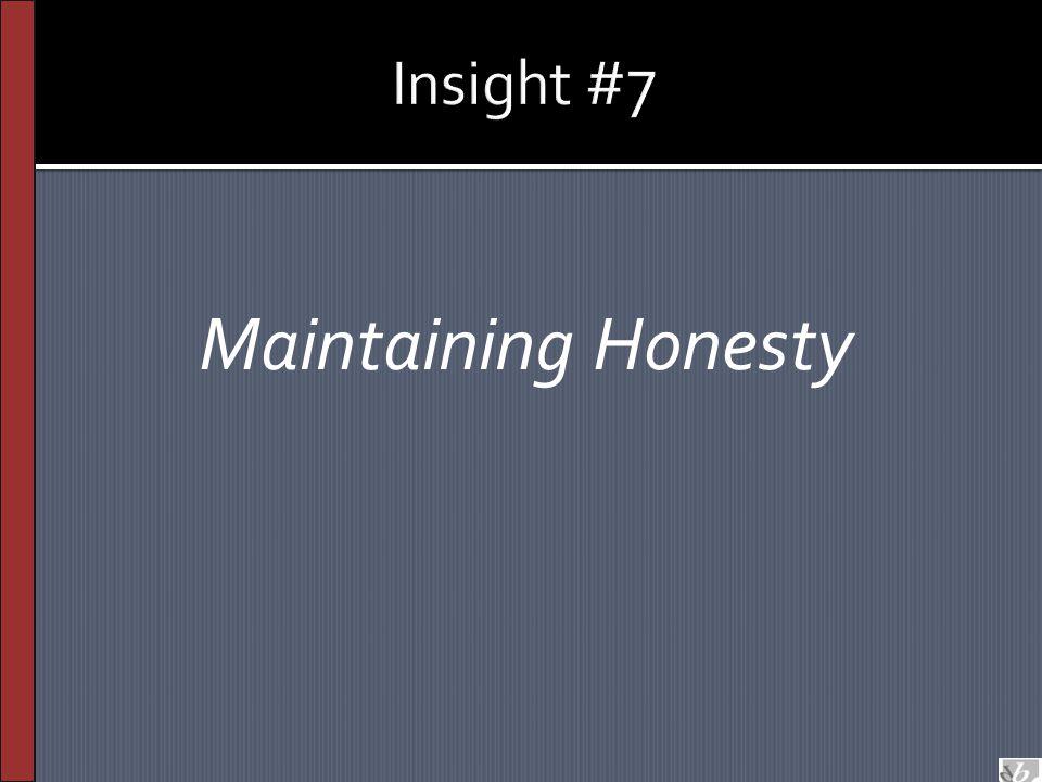 Maintaining Honesty