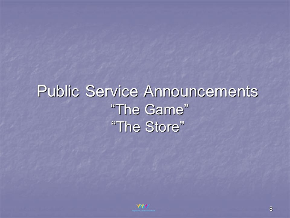 8 Public Service Announcements The Game The Store