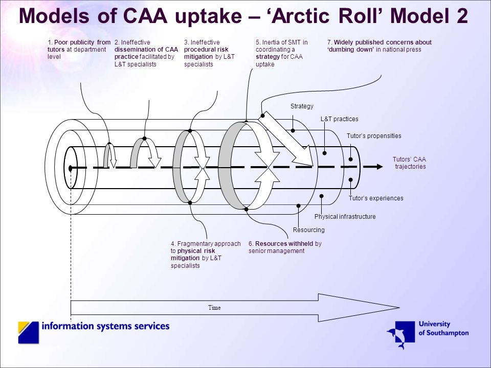 Models of CAA uptake – 'Arctic Roll' Model 2 Time 4.