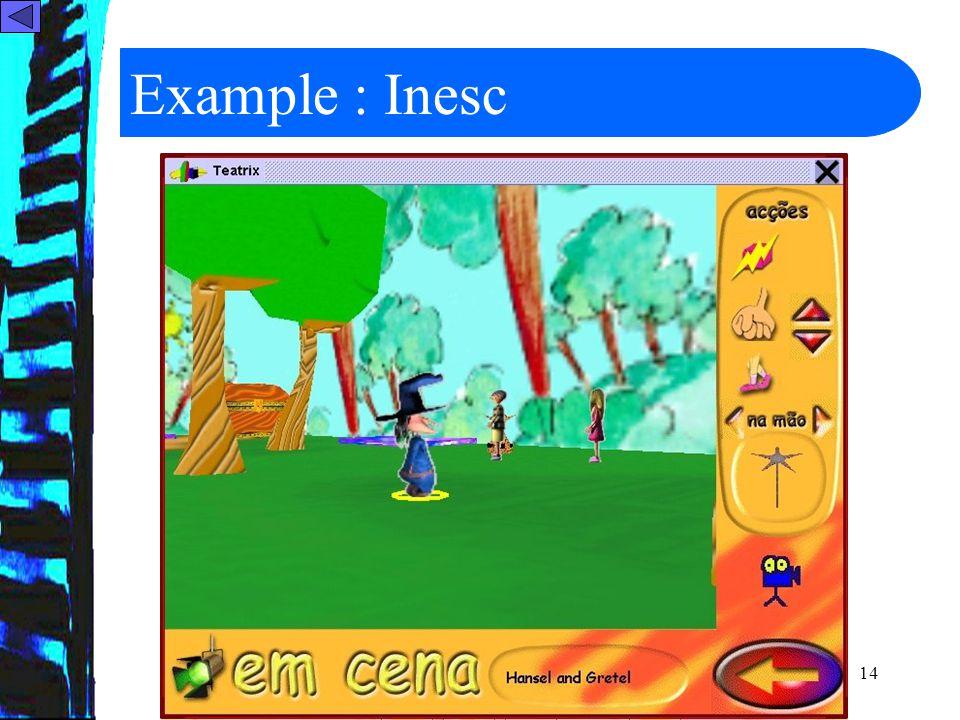 14 Example : Inesc