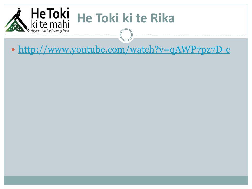He Toki ki te Rika http://www.youtube.com/watch?v=qAWP7pz7D-c