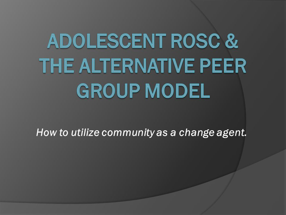 Alternative Peer Groups: Are they effective.