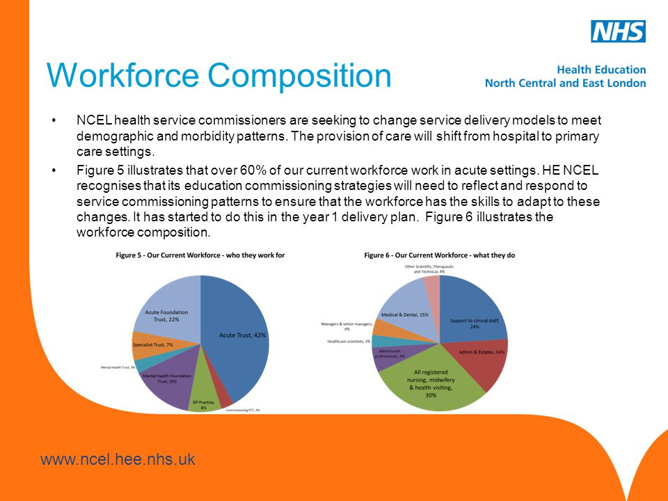 www.hee.nhs.uk www.ncel.hee.nhs.uk NCEL health service commissioners are seeking to change service delivery models to meet demographic and morbidity p