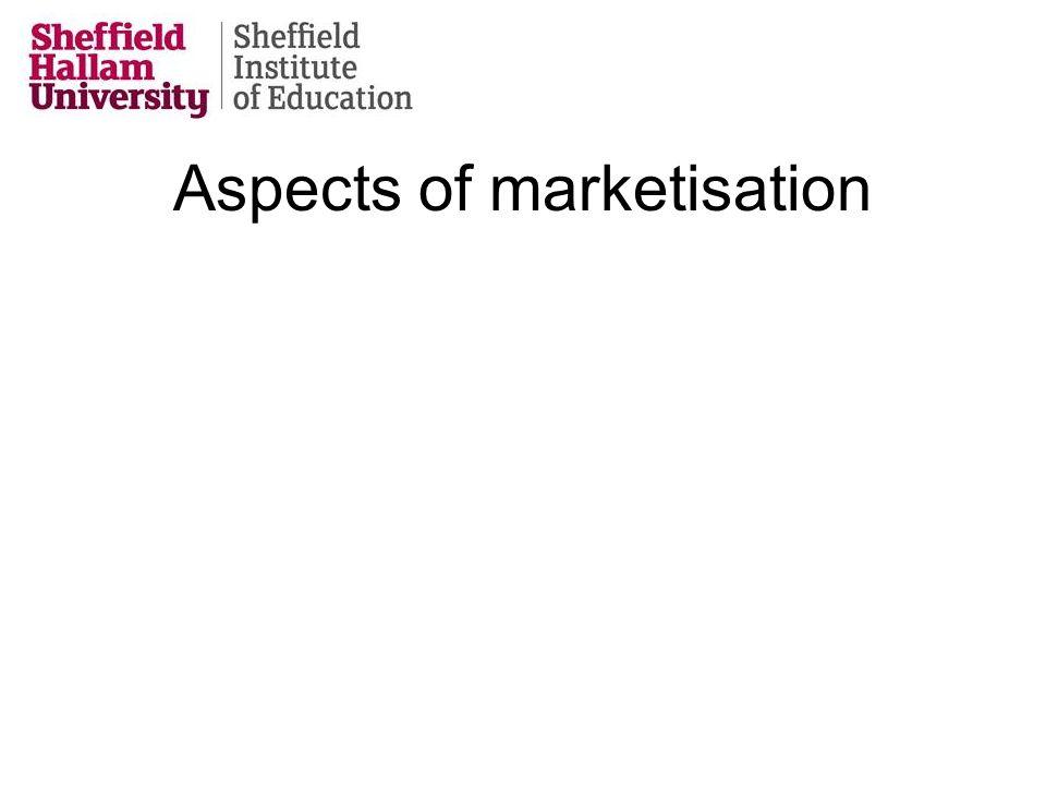 Aspects of marketisation