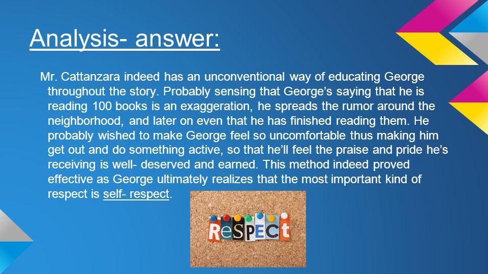 Analysis- answer: Mr.