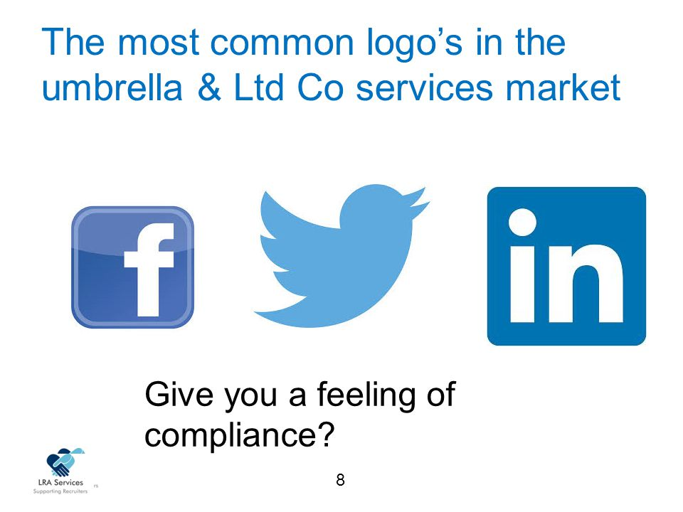 8 The most common logo's in the umbrella & Ltd Co services market Give you a feeling of compliance