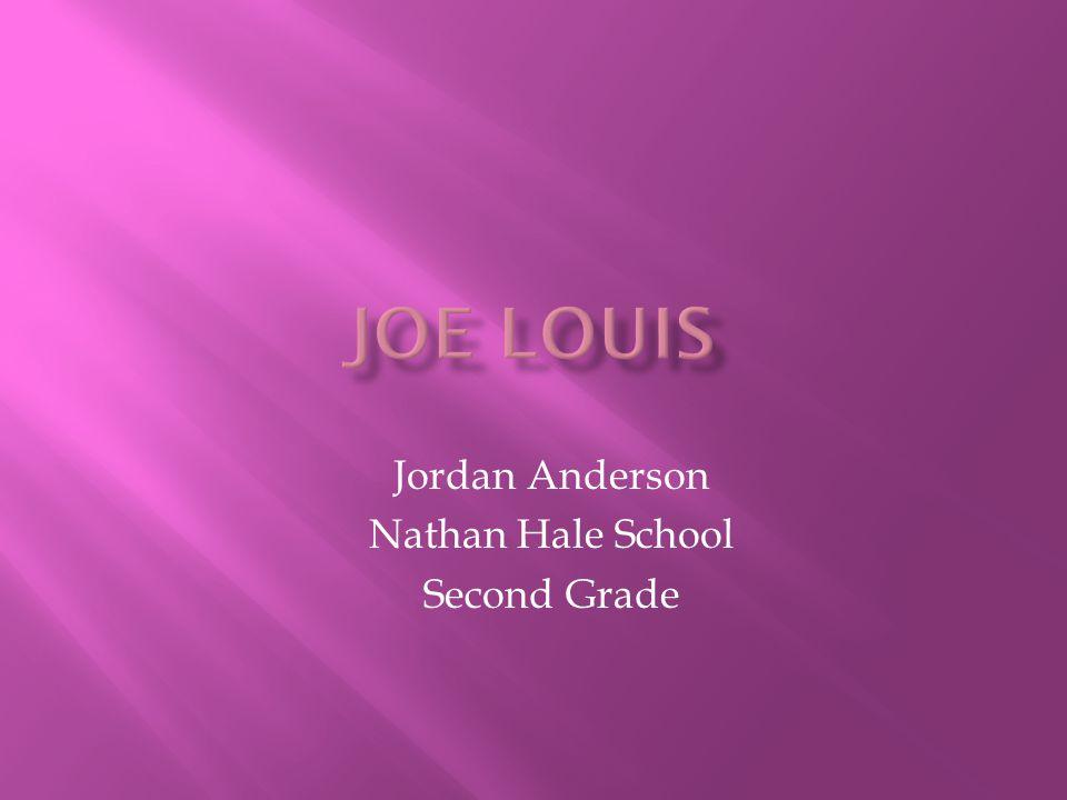 Jordan Anderson Nathan Hale School Second Grade