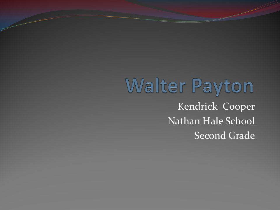 Kendrick Cooper Nathan Hale School Second Grade