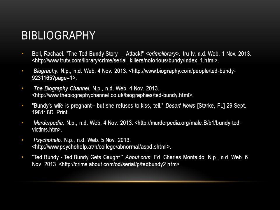 BIBLIOGRAPHY Bell, Rachael.