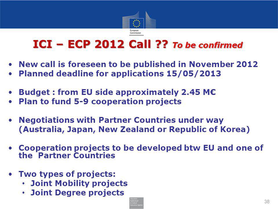ICI – ECP 2012 Call .