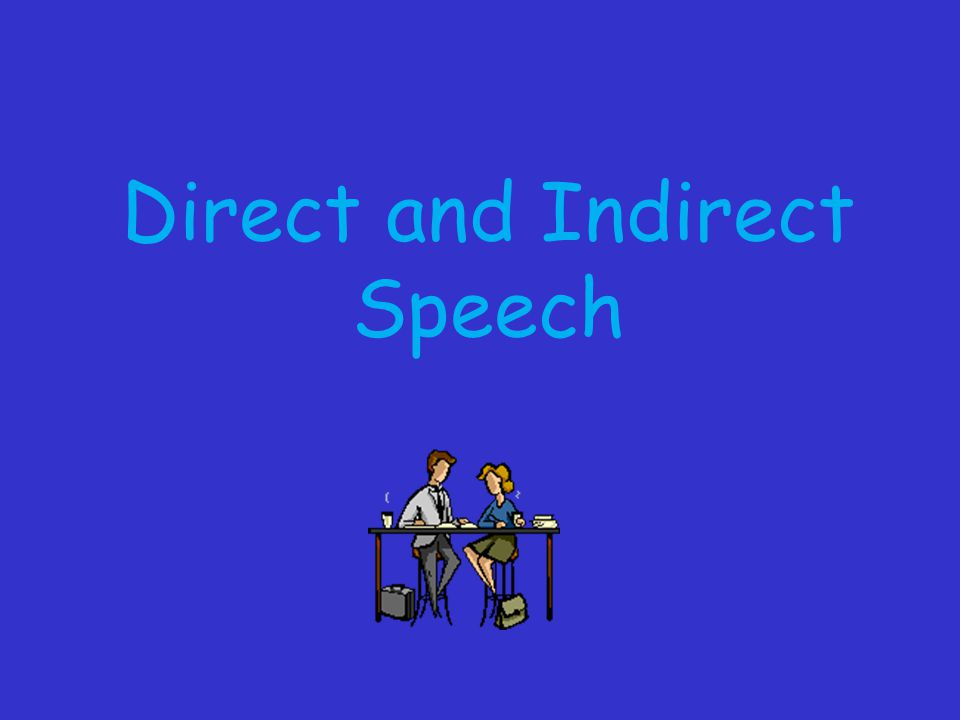 By the end of the lesson I will: Understand the difference between direct and indirect speech.