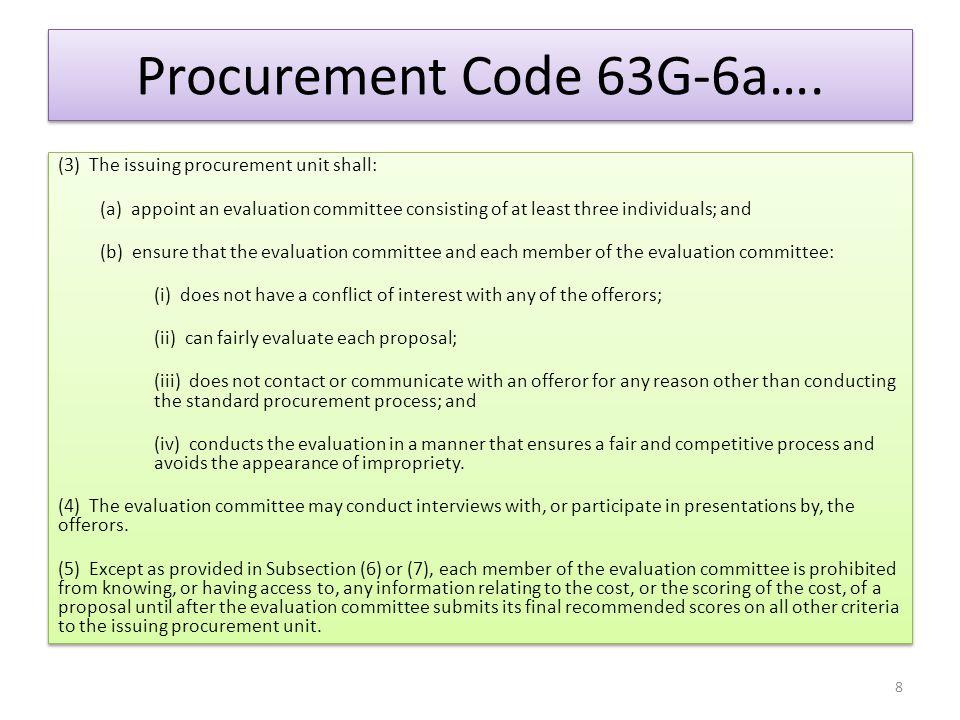 Procurement Code 63G-6a….