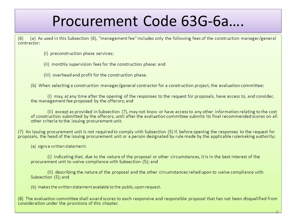 Definition of Evaluation The NASPO State & Local Government Procurement Practical Guide book defines Evaluation as: A review process used to make a determination.
